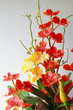 Artificial orchid, orange, yellow