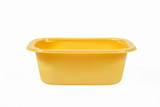 Yellow Food Tray on White Background