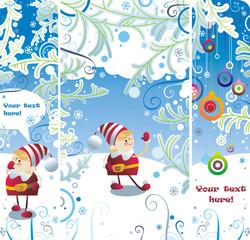 Christmas elf banners set