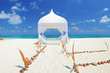 Wedding tent on a beach at Maldives island