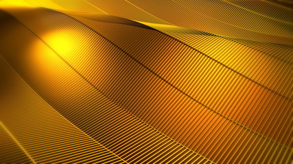 Gold Waving Video Background