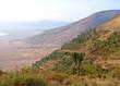 Gravel road leading  down to Ngorongoro crater i