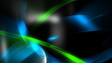 Green & Blue Shapes Abstract Video Background