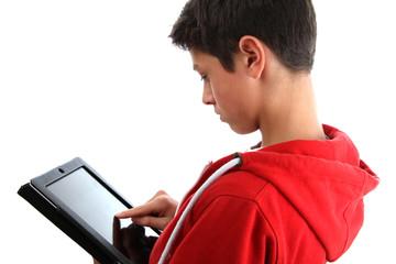 Junge mit Notepad