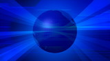 Blue World Globe Abstract Video Background