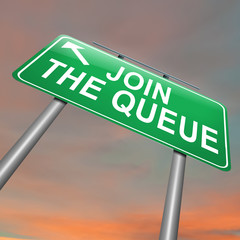 Join the queue.
