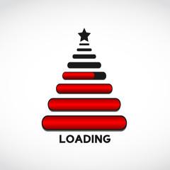 christmas tree made from web loading bars