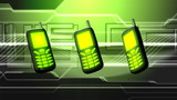 Cell Phones Green Abstract Video Background