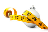 Christmas Bauble tape measure