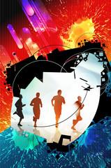 Sport poster background