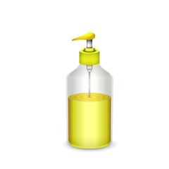 bottle of liquid soap isolated