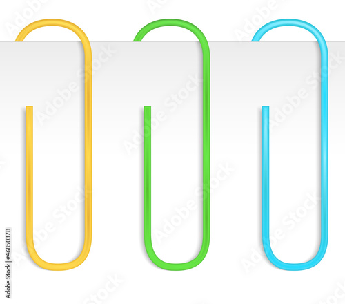 Colored paper clips