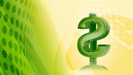 Dollar Green & Yellow Abstract Video Background