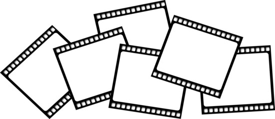 Blank film film strips vector