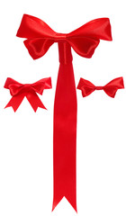 Isolated image of a red bow on a white background