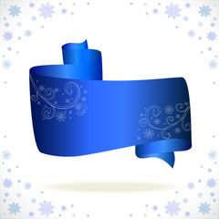 blue tape cristmas on white background