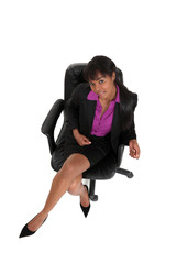 Sexy African-American businesswoman