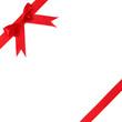 Image holiday red bow and ribbon