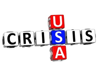 3D USA Crisis Crossword