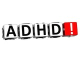 3D ADHD Button Click Here Block Text