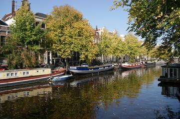 Casas flotantes en la ciudad