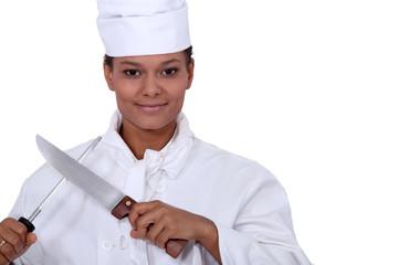 Cook sharpening knife