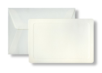 Envelope and striped embassed card