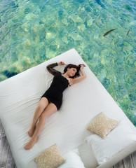 Wellnessbett im Meer