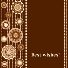 Greeting card in brown color - Best wishes