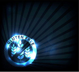 Gluten free background, beautiful blue sparkling color.