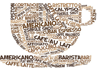 Coffee Cup Word Art