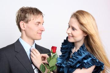 Pärchen mit Rose