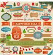 Christmas set - vintage ribbons