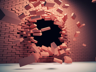 Destruction wall