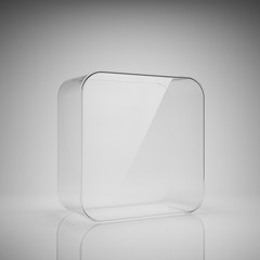 Empty glass box