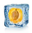 Ice cube and apricot
