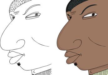 Black Man Frowning