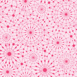 Seamless Pattern Background With Pink Abstract Ornamental Web