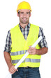 Engineer in a reflective vest
