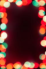 dark background with bokeh lights frame