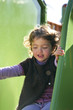 Girl on a slide