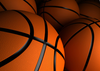 Basketballs Closeup