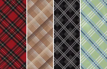 Plaids Textile Swatches