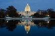 canvas print picture - View on Capitol in Washington DC on dusk