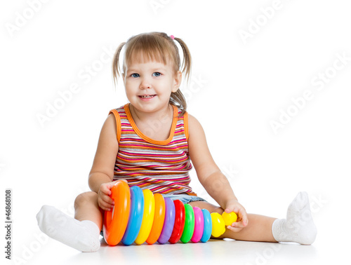 little girl kid playing with toy