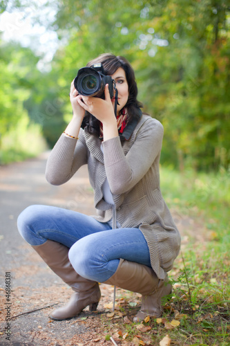 photographer takes photo outdoor