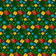 Christmas seamless tile background
