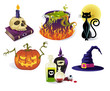 Halloween Icons, Detailed set