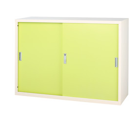 Steel cabinet in bright green great to storage all files