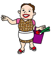買い物帰りのおばちゃん